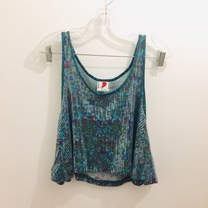 Free People Sequin Cropped Swing Tank Top small